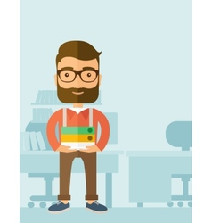 Streesful employee vector