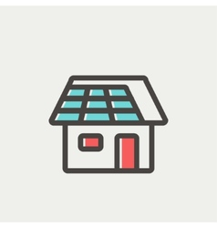 House thin line icon vector