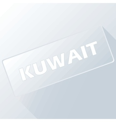 Kuwait unique button vector