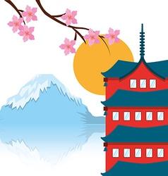 japan emblem vector image