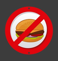 Unhealthy food vector