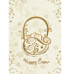 Basket of eggs vector
