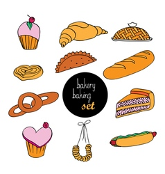 Bakery assortment vector