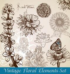 Floral sketch vector