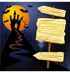 Halloween background with sign vector
