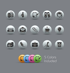 Office Business Icons Pearly Series vector image