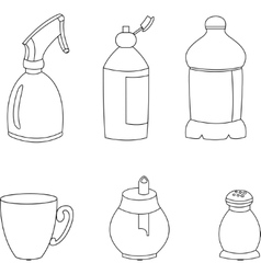 Kitchen elements icons vector