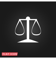 Scales balance icon vector