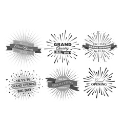 Grand opening design vector image