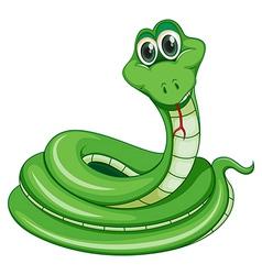 A green snake vector