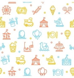 Amusement Park Background Pattern vector image