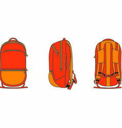 backpack 2d template vector image vector image