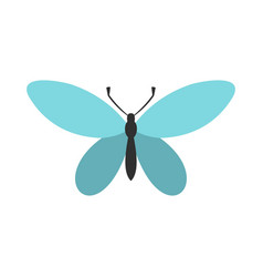 butterfly with antennae icon flat style vector image