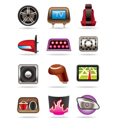 Cars tuning accessories vector image vector image