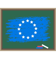Chalk flag of europe vector