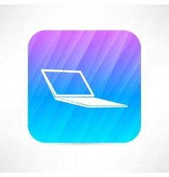computer notebook icon vector image