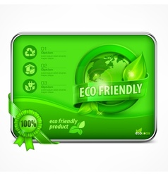 Eco friendly infographic in green vector image vector image