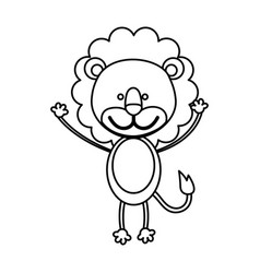Figure teddy lion icon vector