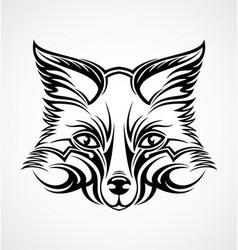 Fox Head Tattoo Design vector image vector image