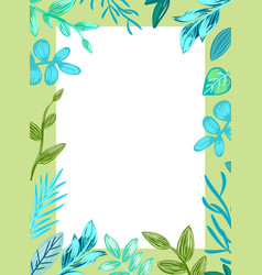frame of square shape poster vector image