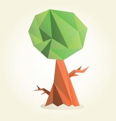 Green triangle tree vector