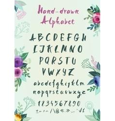 Handwritten alphabet vector image vector image