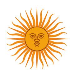 Heraldic sun vector