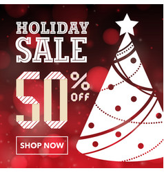 holiday social ad template vector image vector image