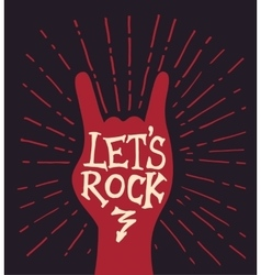 Lettering composition about rock music vector