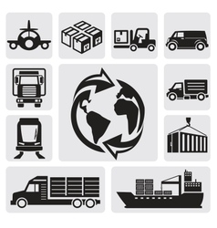 Logistic shipping vector image