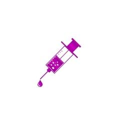 Medical syringe icon EPS 10 vector image vector image