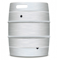metal beer keg vector image