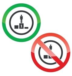 Pedestal permission signs vector