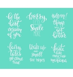 Photography family positive quotes overlay set vector image vector image