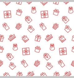 Present seamless pattern background vector