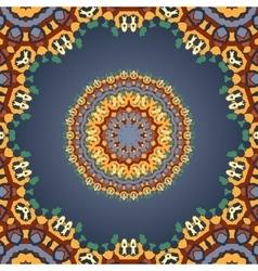 Print round mandala ornamental geometric doily vector