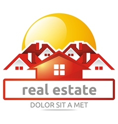 real estate buiding architecture house vector image