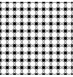 Seamless monochrome circle pattern - abstract vector