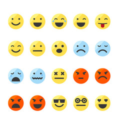 Set of emojis on isolated white background vector