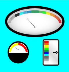Set of indicators with colored spectral indicator vector image
