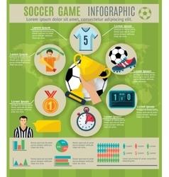 Soccer infographic set vector