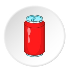Soda can icon cartoon style vector