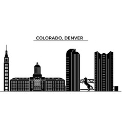 Usa colorado denver architecture city vector