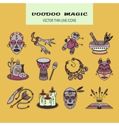 Voodoo african and american magic logo vector