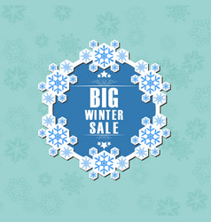 winter sale background banner vector image vector image