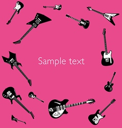 Guitar music concert poster layout template vector
