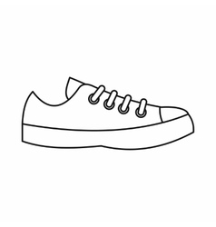 Sneakers icon outline style vector