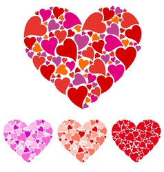 Heart design set vector image