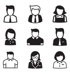 Useraccount staff employee maid icons vector