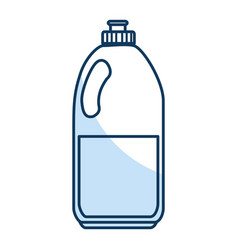 Laundry product in plastic bottle vector